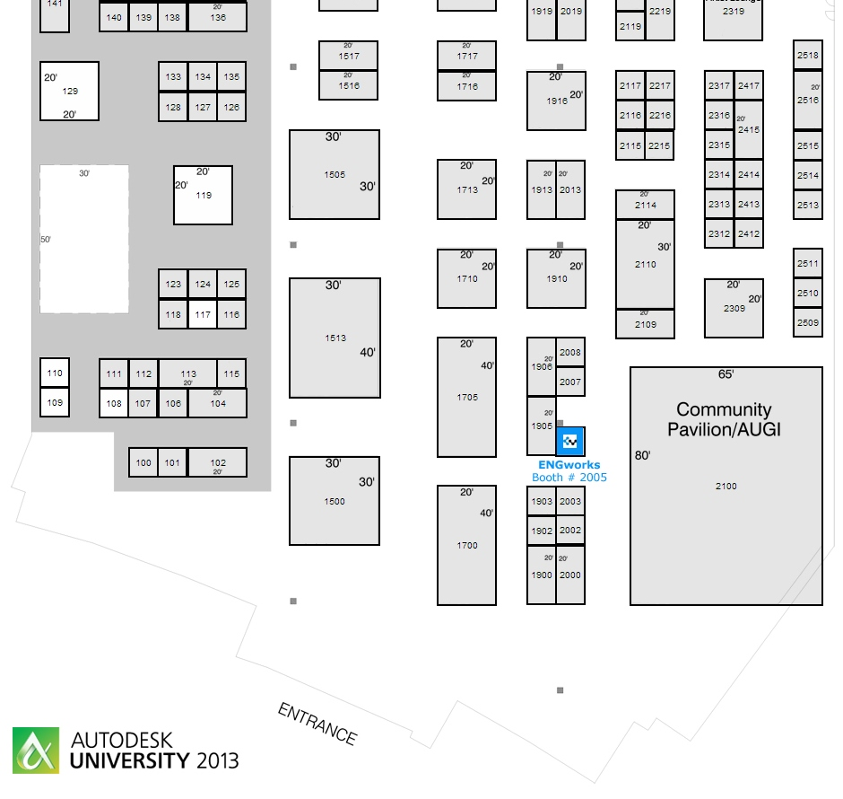 Autodesk University - AU 2013 - ENGworks Booth 2005